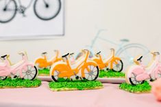 Bicycle cookies from a Bike Themed Birthday Party on Kara's Party Ideas   KarasPartyIdeas.com (17)