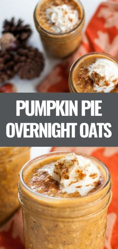 This easy pumpkin overnight oats recipe gives you a taste of pumpkin pie in a healthy breakfast that you can customize and meal prep for the week.
