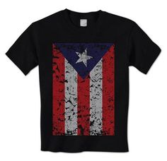 Big Distressed & Tattered Puerto Rico Flag - Puerto Rican Pride Mens T-Shirt