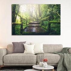 Forest bridge πίνακας σε καμβά Love Seat, Couch, Furniture, Home Decor, Settee, Decoration Home, Sofa, Room Decor, Home Furnishings
