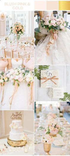 From a recent survey among bride-to-bes, most girls, 20.3% of all survey-takers show their bliss and welcome to the gold and pink blush combination, which wins top place of the 2017 wedding color combinations list. La...
