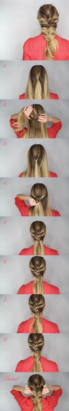 shortcut to fishtail braid