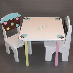 Childrens Table and Chairs Set Party by GreatCustomFurniture, $220.00