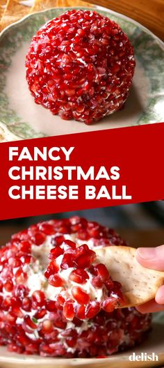 You Can't Celebrate The Holidays Without This Fancy Christmas Cheese BallDelish ~can I make half a cheese ball? Maybe marscapone instead of goat cheese. Holiday Appetizers, Healthy Appetizers, Appetizer Recipes, Holiday Recipes, Party Appetizers, Holiday Parties, Party Recipes, Fruit Recipes, Healthy Food