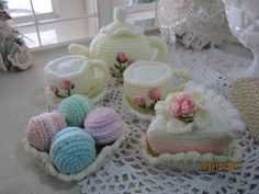Crochet tea party set- created by Annie Msgardengrove1