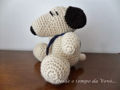 Crocheted Snoopy -  Desde o tempo da vovó...: Snoopy em crochê - Um presente para o Gustavo