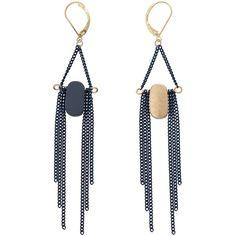 Osier Oval Shape Earrings | Oliver Bonas (1.555 RUB) ❤ liked on Polyvore featuring jewelry, earrings, olive jewelry, olive green jewelry and earring jewelry