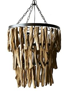 """Creative Co-Op Driftwood Chandelier, 19.75"""" Round by 20"""" ..."""