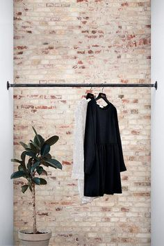 interior RackBuddy Logan - clothes rail between two walls Your Guide to Bathroom Planning and Design Amazing Gardens, Beautiful Gardens, Wall Mounted Clothing Rack, Logan, Narrow Rooms, Curtain Rails, Small Shelves, Walk In Closet, Industrial Design