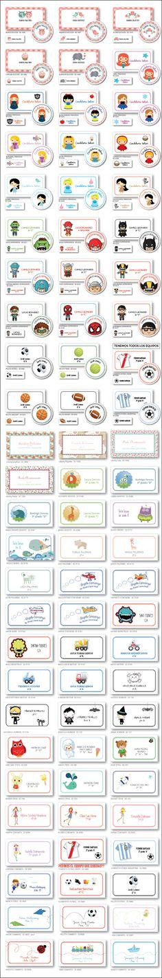 Etiquetas Escolares Personalizadas Utiles Colegio Stickers - $ 180,00