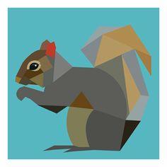 Squirrel. Simple graphic.