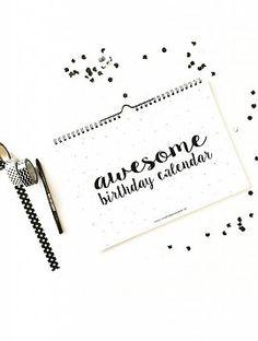 Verjaardagskalender Awesome. Winkeltje van Anne. o.a bij vierjehuis.nl