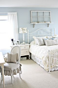shabby chic chambre fille blanc