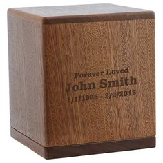 Briton Mahogany Cremation Urn for Ashes by Stardust Memorials