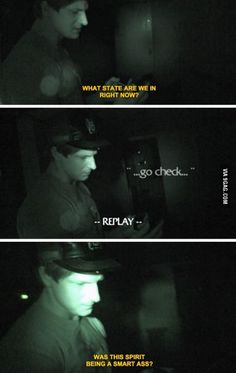 Even ghosts are tired of his sh*t