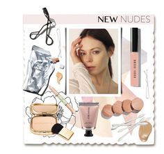 """""""New Nudes"""" by hellodollface ❤ liked on Polyvore featuring Grace Lee Designs, Prtty Peaushun, Hourglass Cosmetics, Bobbi Brown Cosmetics, Josie Maran, Dolce&Gabbana, Garance Doré, Pixi and newnudes"""