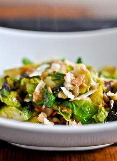 Continuing on my Brussels sprouts obsession I give you... TOASTED COCONUT BRUSSELS SPROUTS