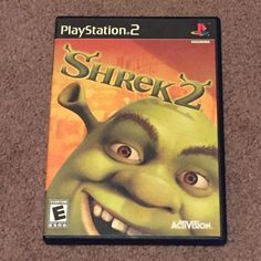 Shrek 2 - Sony PlayStation 2 PS2 Video Game (E-Everyone, 2004, DVD-Rom)