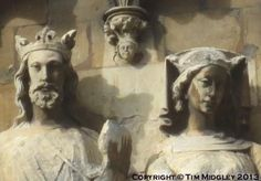 King Edward  and his great love, Eleanor of Castile.  Two of the few medieval statues remaining on the exterior of Beverley Cathedral, East Yorkshire.