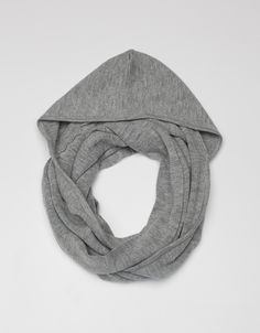 DeNadaHooded Cowl Long g-grey No