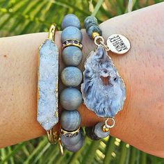You make me happy when skies are gray... or maybe this gray stack is making me happy. ;) Don't you love this edgy, but cute bracelet combo?! @Kinsley Armelle Get 15% off with the promo code: ANNAFREEMAN15OFF Bracelet Stack | Arm Candy | Druzy Bracelet | Jewelry | Accessories | InstaFashion | ootd http://www.kinsleyarmelle.com?rfsn=304617.6e646
