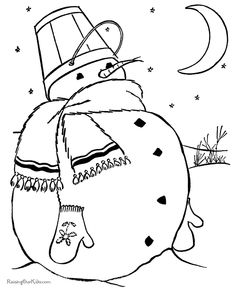 Online Snowman Coloring Page Printables Snowman Kids colouring