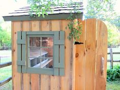 I've always wanted chickens! Maybe someday. Here's a cute chicken coop