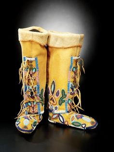 Northern Shoshone Women's Leggings & Moccasins -- Circa 1910 -- National Museum of the American Indian -- Washington, DC