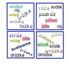 Dobble ortograficzne Polish Language, Grammar, Bullet Journal, Teacher, Education, Speech Language Therapy, Therapy, Polish, Professor