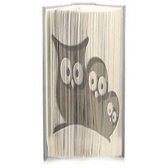 3 Owls cut and fold book folding pattern.