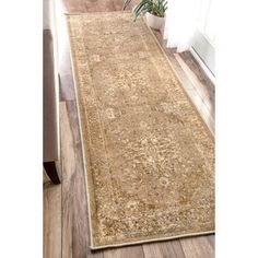 nuLOOM Traditional Vintage Inspired Overdyed Fancy Natural Runner Rug (2'6 x 8') | Overstock.com Shopping - The Best Deals on Runner Rugs