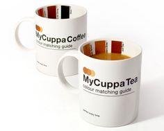 Quem gosta de café sabe errar na medida do leite pode acabar com o sabor da bebida. Pensando nisso, a SuckUk criou a MyCuppa, uma xícara com uma tabela de pantone que te permite ver se o café está do jeito que você gosta. Há também a opção para chás, para aqueles que gostam de bebê-los com leite, como os ingleses.  ....