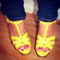 Neon yellow YSL.