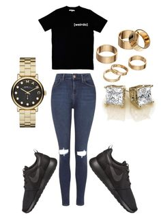 """""""Simple 1"""" by itsqueenb94 on Polyvore featuring Topshop, NIKE, Illustrated People, Marc by Marc Jacobs and Apt. 9"""