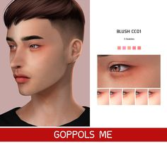 THIS IS AWESOME! BLUSH for around the EYES! TOO COOL! Another GREAT ITEM Created BY: GopplesMe! The Sims 4 Skin, The Sims 4 Pc, Sims Four, Sims 4 Cas, Sims 4 Body Mods, Sims 4 Game Mods, Sims 4 Cc Eyes, Sims 4 Mm Cc, The Sims 4 Cabelos
