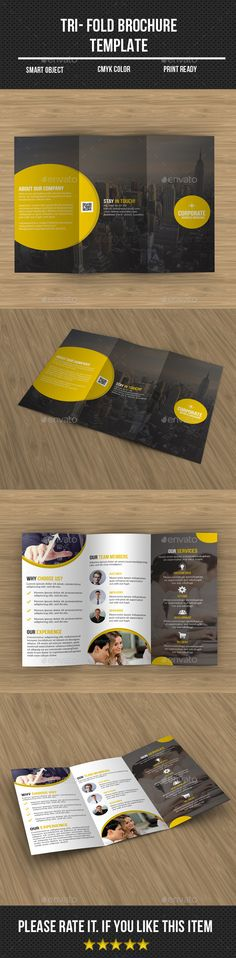 Corporate Tri- Fold Brochure - Corporate Brochure Template PSD. Download here: http://graphicriver.net/item/corporate-tri-fold-brochure/12756874?s_rank=1797&ref=yinkira