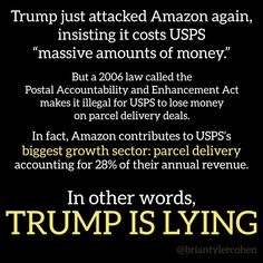 Admit it. Trump hates Jeff Bezos because Jeff does not support Trump or his agenda. Just another of Trump's vendettas against anyone that disagrees with him.