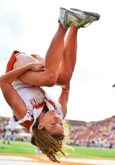 tuck cheerleading... Notice this is at UT Austin!
