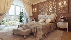 Замечательный дизайн спальни.