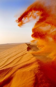 Sand, concept for earth/air dragon made only visible by the wind breathing through the dune. All Nature, Amazing Nature, Desert Dunes, Dark Sun, Beautiful World, Beautiful Places, Orange Aesthetic, Natural Phenomena, Belle Photo