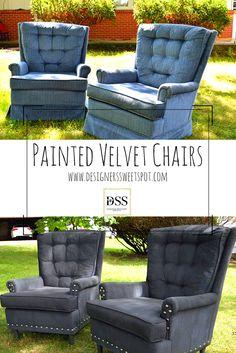 Painted Velvet Chairs Designers Sweet Spot www.designerssweetspot.com