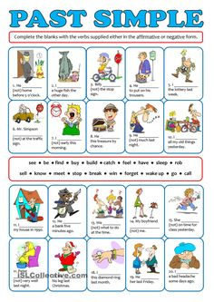 PAST SIMPLE - affirmative negative - English ESL Worksheets for distance learning and physical classrooms English Grammar Tenses, Teaching English Grammar, English Grammar Worksheets, English Verbs, Kids English, Grammar Lessons, English Lessons, English Vocabulary, Learn English