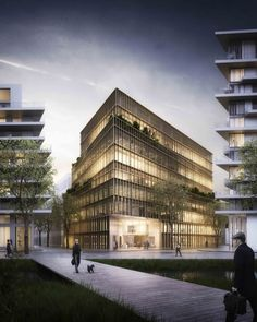 Kaufman & Broad Office Building Winning Proposal / Studioninedots / #night render reference
