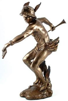 #pagan #wicca #witchcraft #celtic #druid #tarot Hermes Statue $48.95