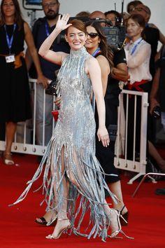 Emma Stone alla prima di La La Land al festival del cinema di Venezia - 31 agosto 2016 (Andreas Rentz/Getty Images)