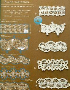 Algumas ideias para usarmos na confecção do crochê de grampo.