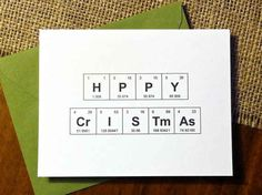 Periodic Table Chemistry 'HPPY CrISTmAs' Greeting Card (Set of 6) | 23 Geeky Greeting Cards For The Holidays
