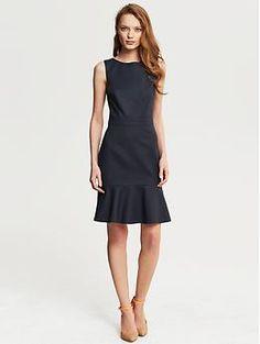 Sleek Suit Flounce Dress - Banana Republic http://bananarepublic.gap.com/browse/product.do?cid=1005911&vid=1&pid=932441002