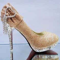 2017 New Fashion Sexy Women Silver Rhinestone Wedding Shoes Platform Pumps  Red Bottom High Heels Crystal Shoes Gold Black Pink - Women s Clothes 2c4f0f7cc6a5