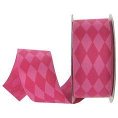 "the Ribbon Boutique 1 1/2"" Pink Harlequin Grosgrain Ribbon | Shop Hobby Lobby"